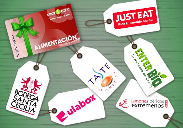 Tarjeta Promo regalo Click&Gift ALIMENTACIÓN Y BEBIDAS